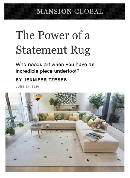 Mansion Global features Leverton House in article about statement rugs